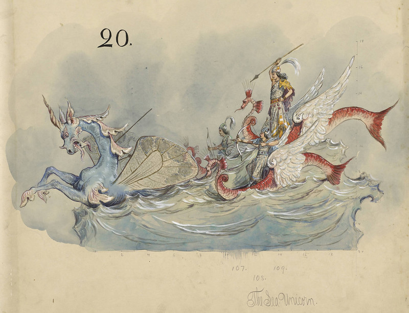 Bror Anders Wikstrom - The Sea Unicorn, float design from Krewe of Proteus, 1898