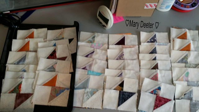 Pairs selected for the next  bit  of stitching for step 4