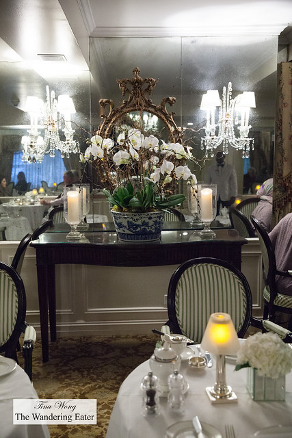 White orchids and chandeliers