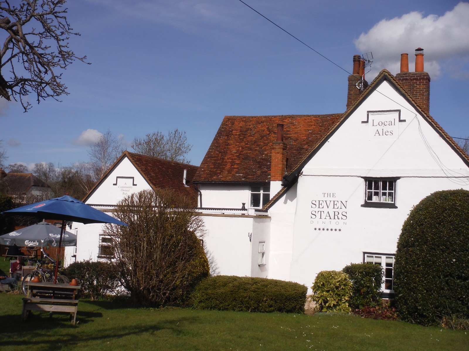 The Seven Stars, Dinton (community-owned) SWC Walk 193 Haddenham to Aylesbury (via Gibraltar and Ford)