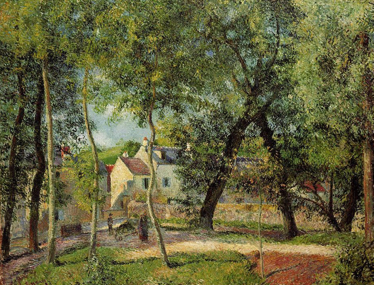 Landscape at Osny near watering by Camille Pissarro, 1883