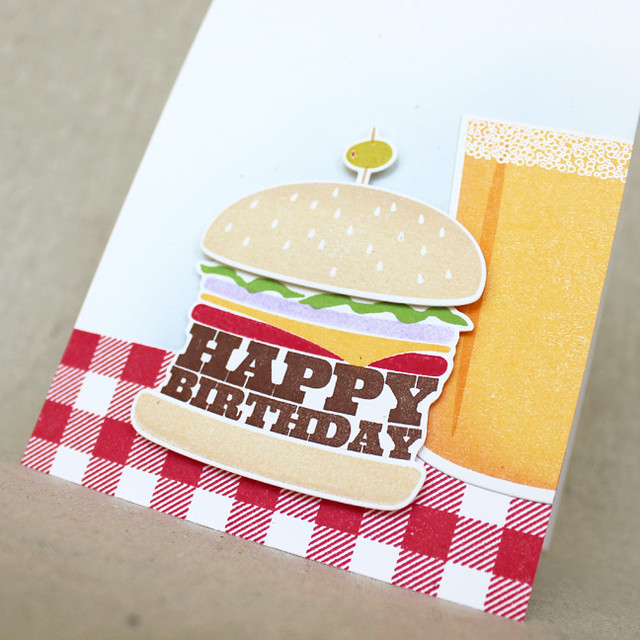Beer & Burger Birthday Close Up