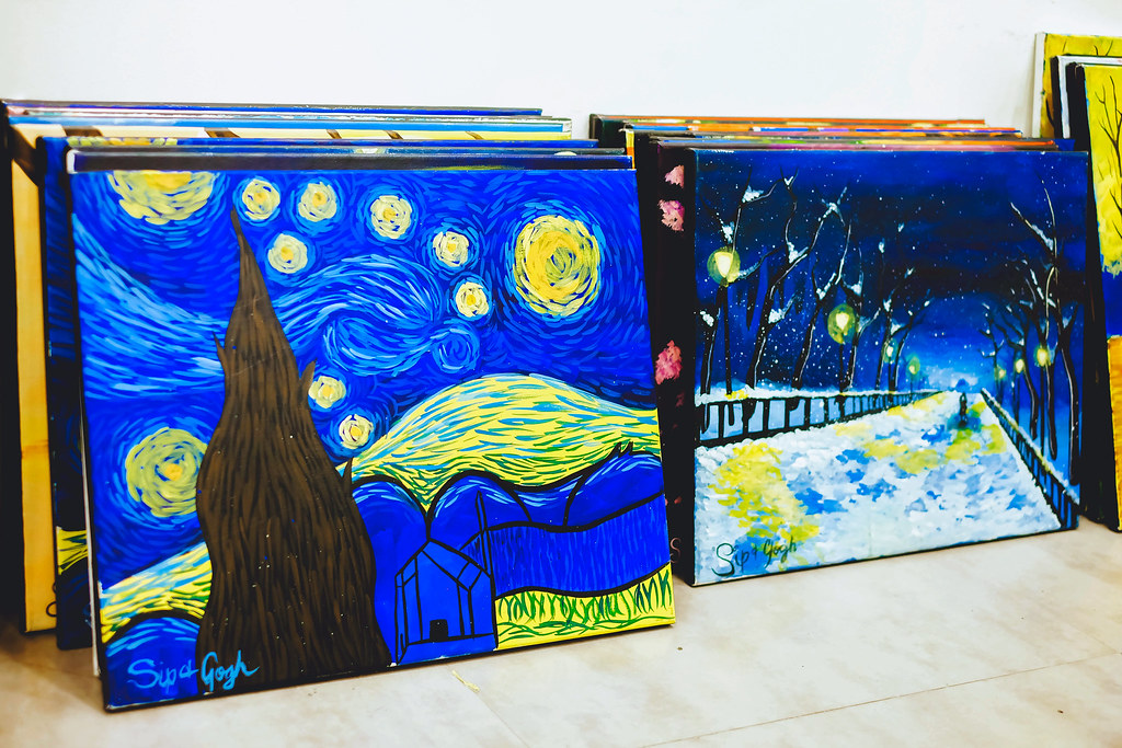 Sundae Scoops goes to Sip and Gogh Kapitolyo gallery painting