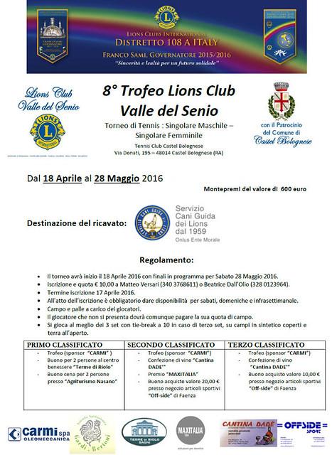 Sport e solidarietà; il torneo di tennis organizzato dal Lions Club valle del Senio