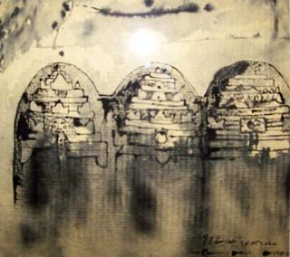I Wayan Arinata, Candi Tebing Gunung Kawi, 29 x 21 cm, Ink on Paper, 2016