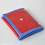 Handmade zip wallet