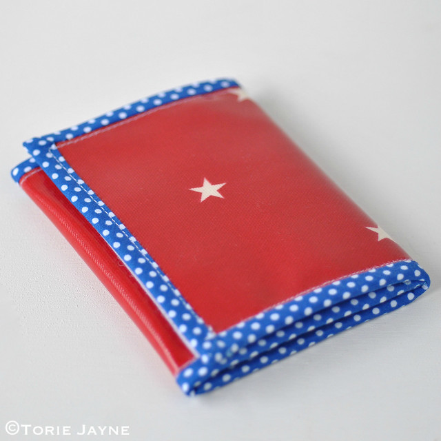 Handmade zip wallet