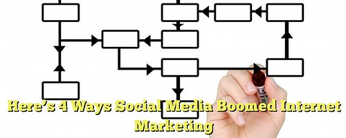 Here's 4 Ways Social Media Boomed Internet Marketing