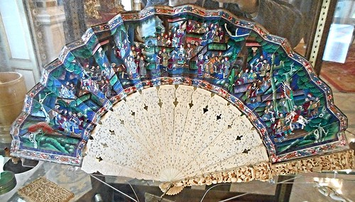 Chinese fan 18th century - Villa Pignatelli Museum in Naples