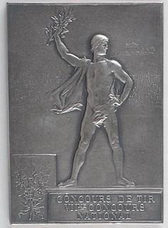1900 Summer Olympics Silvered Bronze Winner's Medal reverse
