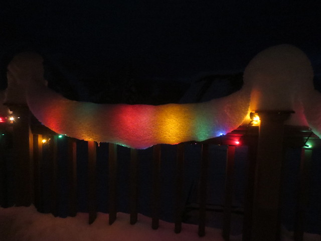 Rainbow snow wave