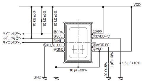 GridEyeサンプル回路