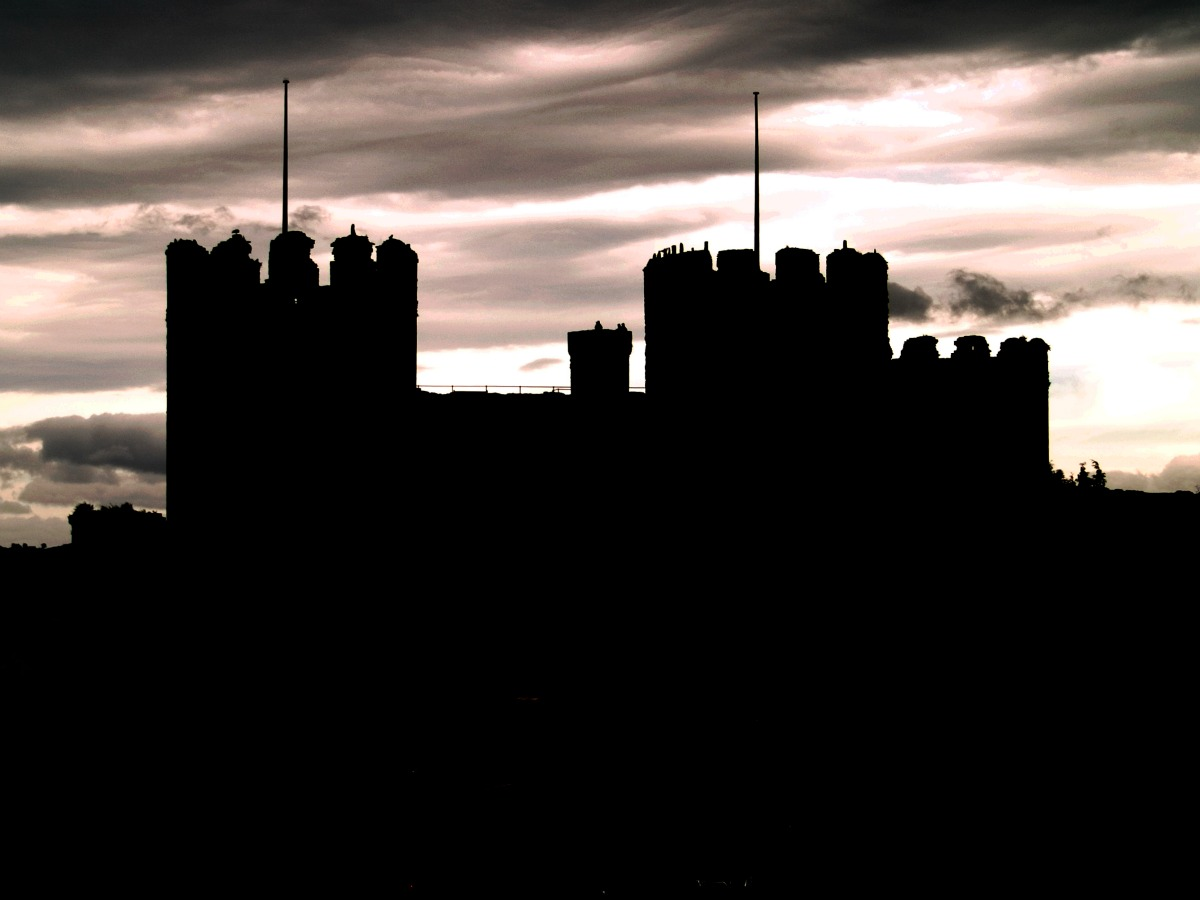 Conwy Castle Silhouette. Credit Jon Pinder