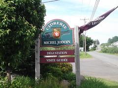 Panneau indiquant la cidrerie Michel Jodoin