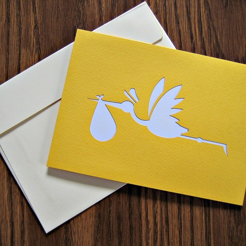 LovePop Cards - Yellow Stork Cover