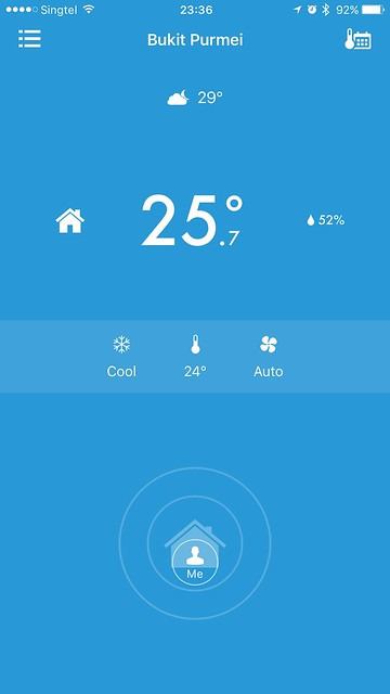 tado iOS App - At Home - Switched On