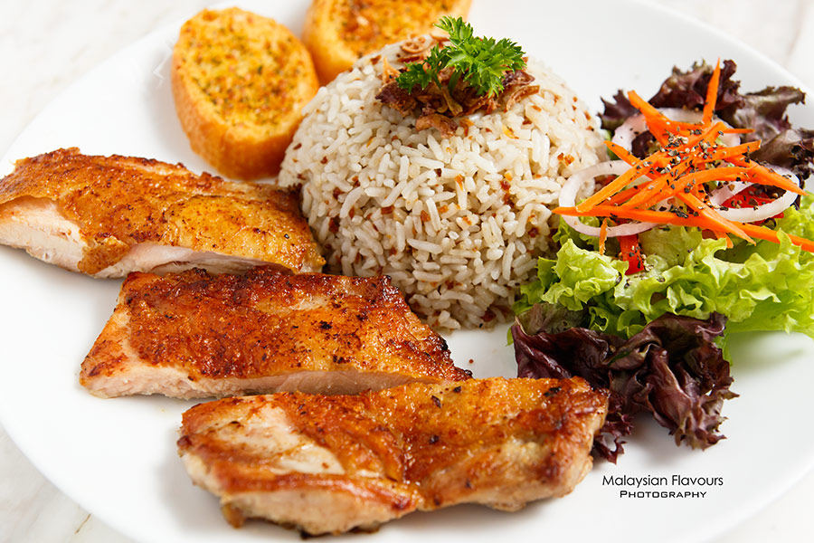 Rail Canteen Sunway Nexis grilled chicken with garlic rice