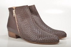John Baker's Ankleboot / Stiefelette DL112 geflochtenes Kalbsleder braun (brown) (1)