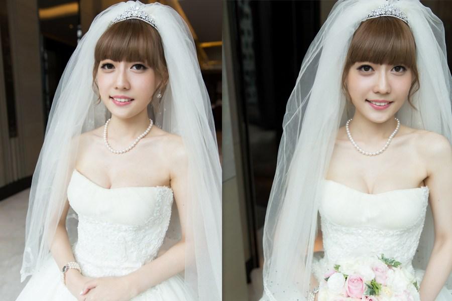 新秘Yuki│新秘推薦│白紗│盤髮│新娘頭紗