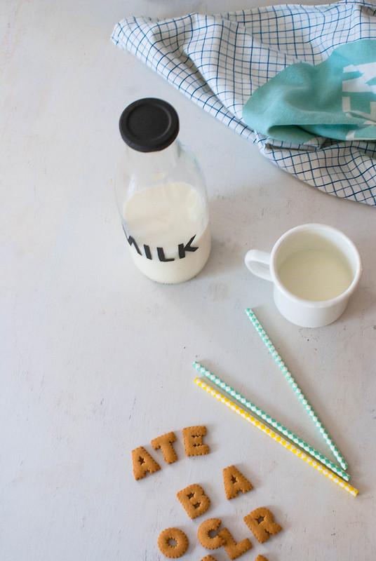 Botella de leche Diy