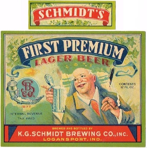 First-Premium-Lager-Beer-Labels-KG-Schmidt-Brewing-Company