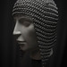 Small photo of Chainmail Skullcap headgear