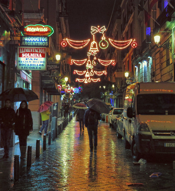 Rain in Madrid at Christmas Time (2016)