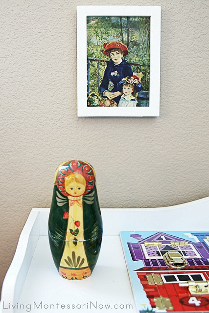 Shelf with Russian Matryoshka Nesting Doll