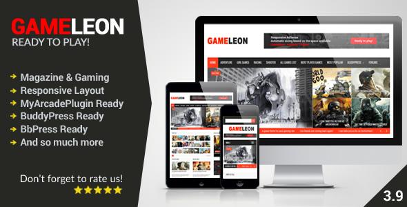 ThemeForest Gameleon v3.9 - WordPress Magazine & Arcade Theme