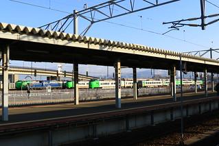 函館駅横に 789系が…