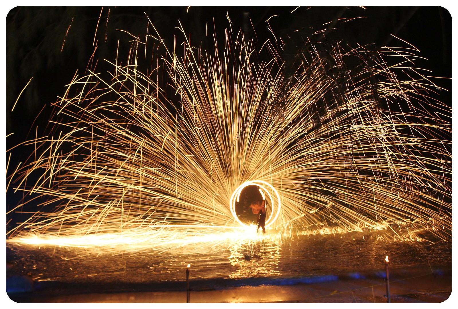 koh tao fire dancer