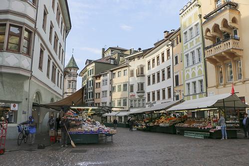Obstmarkt Bozen Bolzano Südtirol Alto Adige Italien Italia