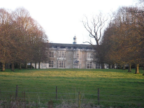 Hartwell House, from footpath to the NW