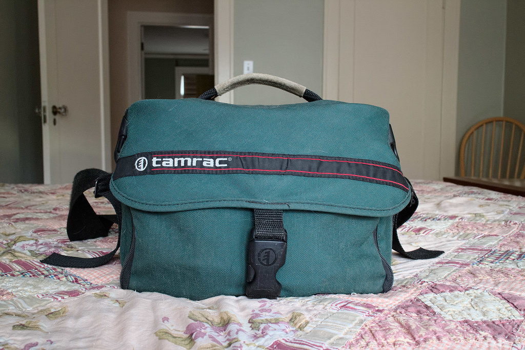 My Tamrac camera bag, bought in the mid-1990's