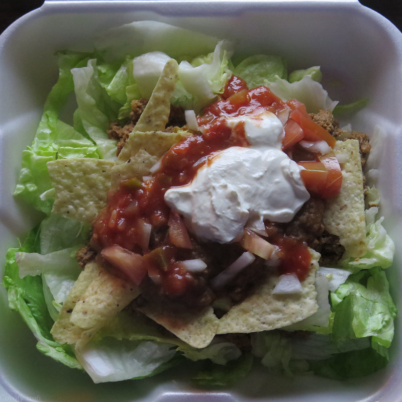 Square meal: taco salad
