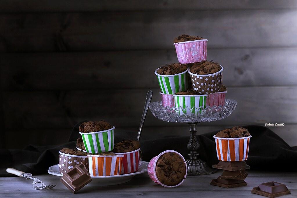 Muffin al cioccolato tratto da California Bakery. I dolci dell'America