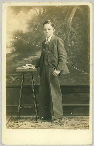Boy with table