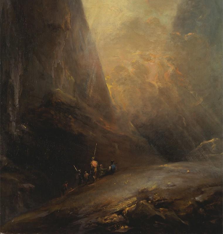 Elias Martin - Mountain Landscape with Banditti (c.1780)