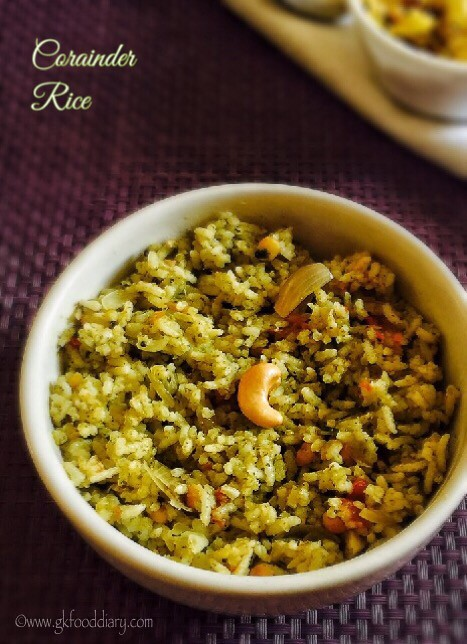 Corainder Rice Recipe for Toddlers and Kids5