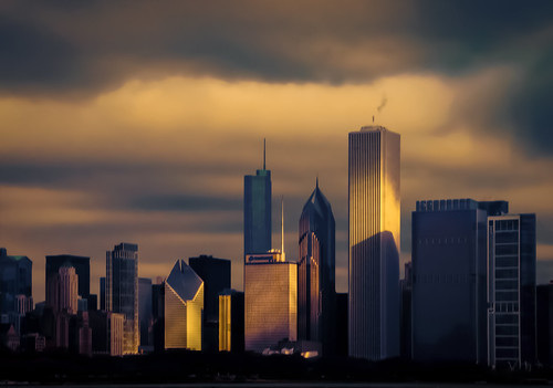 urban skyline architecture clouds sunrise buildings skyscape landscape gold dawn golden march morninglight spring downtown glow cityscape shadows towers chitown atmosphere photowalk glowing theloop cookcounty firstlight chicagoillinois skyscapers aoncenter fehlfarben thewindycity cityofchicago tamron18270 nikond5100 lightroom5