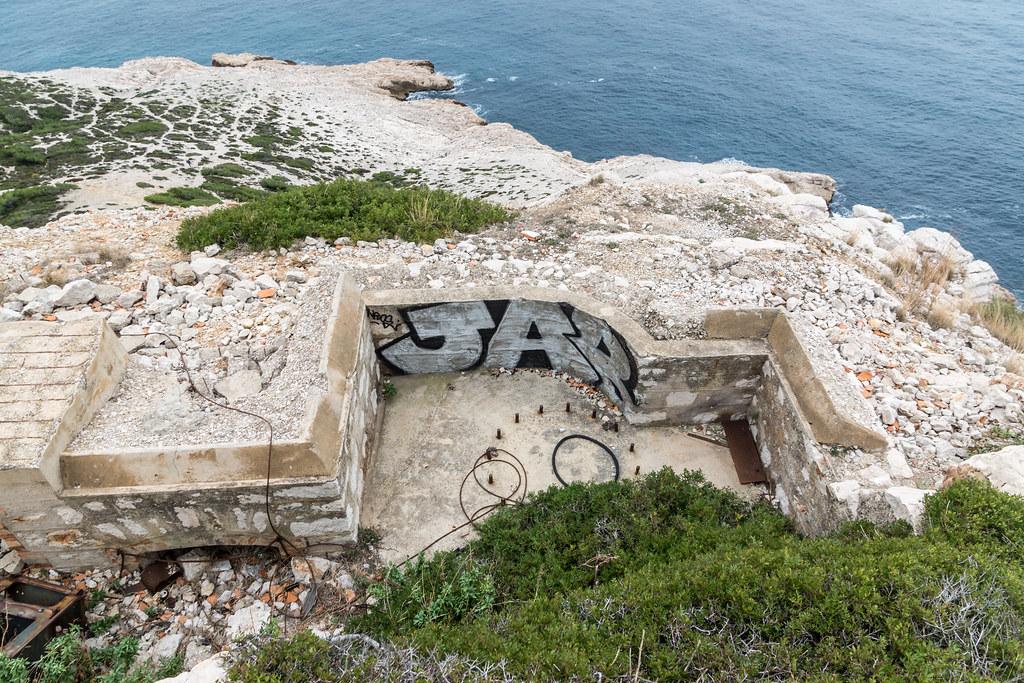 Batterie Sémaphore de Croisette Callelongue (Marseille, 13) 23755768870_94132da950_b