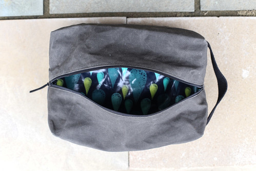 Waxed Canvas Toiletry Pouch