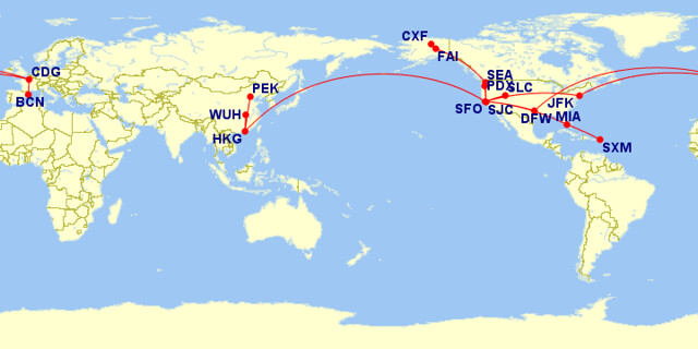 Flight map 2015