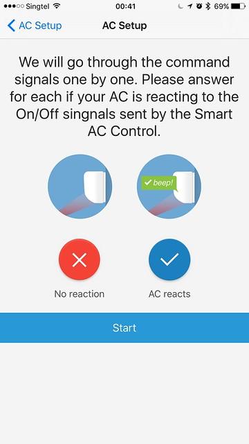 tado iOS App - AC Setup - Command Signals Test