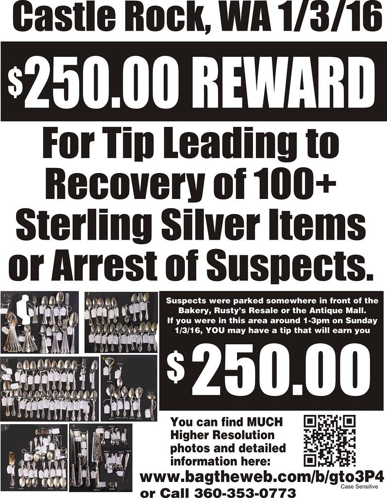 Silver reward $250 BW Flyer