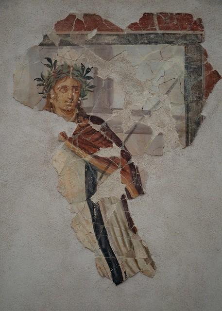 Fragment of wall painting from the House of Aion at Nea Paphos, 4th century AD, Paphos Archaeological Museum