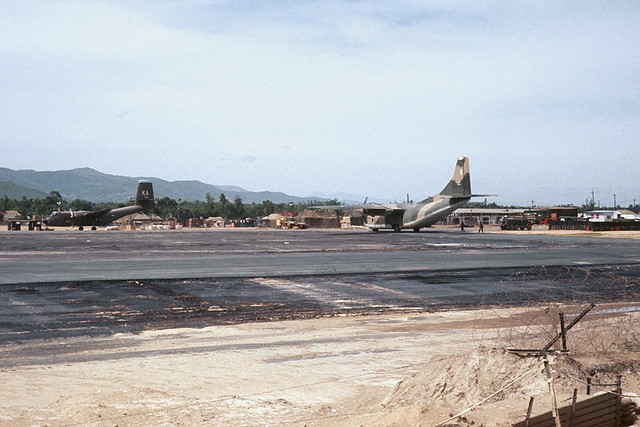Duc Pho Airfield (LZ Bronco) 1967 - Photo by Richard B. Mayes - Airfield View