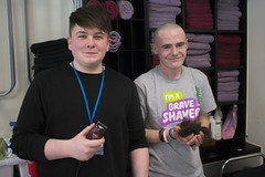 Jake Fellows (Barbering learner) and Will Neagle (Public Services learner)