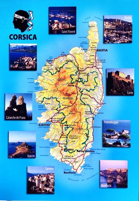 France postcard, Corsica
