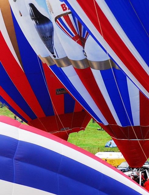 The Cameron Balloons ready for lift off from Ashton Court